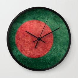 Flag of Bangladesh, Vintage Retro style Wall Clock