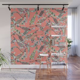 lucky koi coral Wall Mural