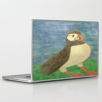 puffin Laptop & iPad Skins featuring Puffin by Danielle Gensler