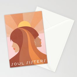 Soul Sisters - Girl power portrait Stationery Cards