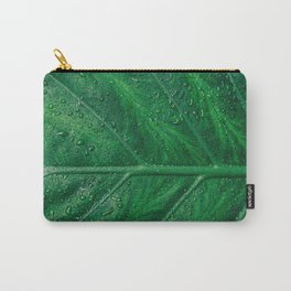 green leaf pattern Carry-All Pouch