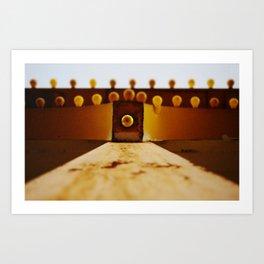 Yellow Bulbs Art Print