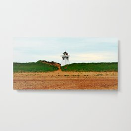 Stanhope PEI Lighthouse and Beach Metal Print
