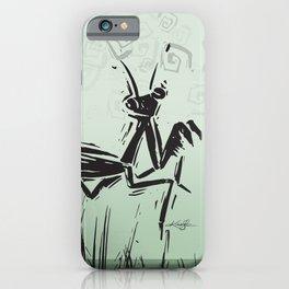 Praying Mantis by Kathy Morton Stanion iPhone Case