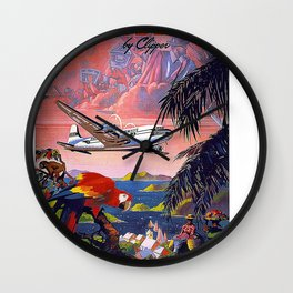 Vintage poster - Caribbean Wall Clock