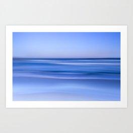 tranquil  blue beach Art Print