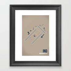 IND Framed Art Print