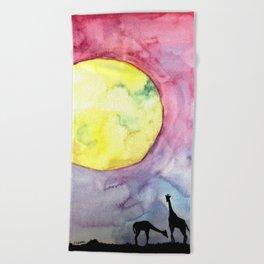 A full moon Beach Towel