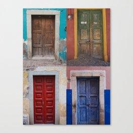 Mexican Doors Canvas Print