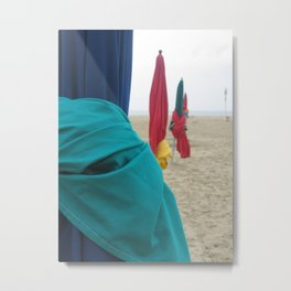 Parasols in Deauville, France (2008f) Metal Print