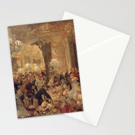 Adolph von Menzel - The Dinner at the Ball (1878) Stationery Cards