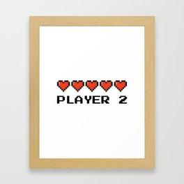 PLAYER 2 Framed Art Print