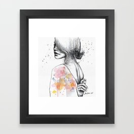 Implosion, watercolor with ink Framed Art Print
