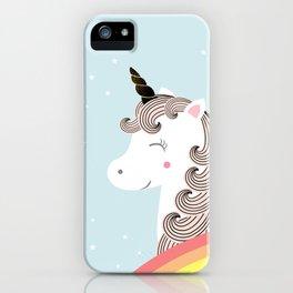Unicorn and rainbow iPhone Case