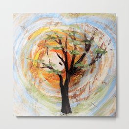 Tree on Tree Metal Print