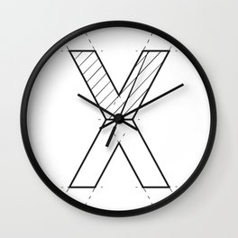 The X Wall Clock