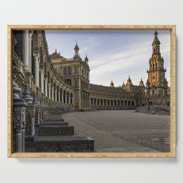 The Plaza de España; Spain Square Seville  Serving Tray