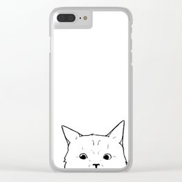 Can I help? Clear iPhone Case