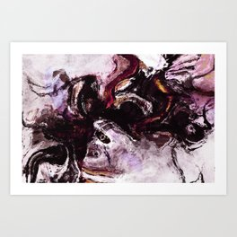 Purple Abstract Art / Surrealist Painting Art Print