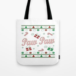 Paw Paw Christmas Tote Bag