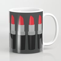 lipstick Mugs featuring Lipstick by Headline Honey