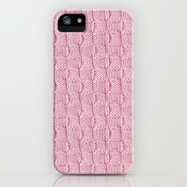 Soft Pink Knit Textured Pattern iPhone Case