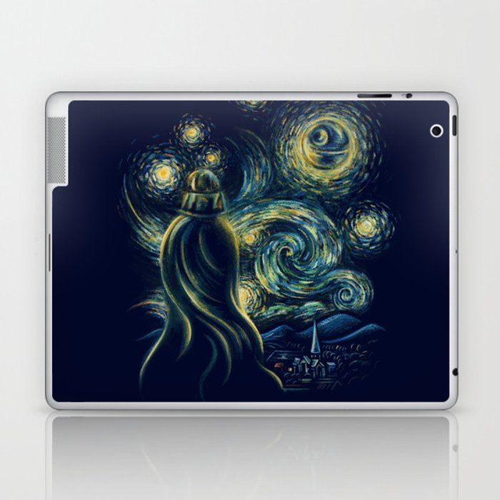 Death Starry Night Laptop & iPad Skin