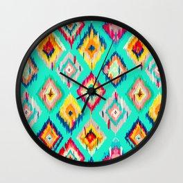 Bohemian Ikat Painting Wall Clock