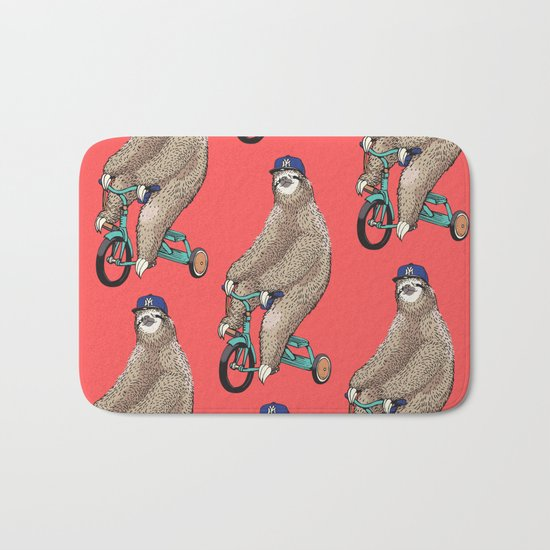 Haters Gonna Hate Sloth Bath Mat
