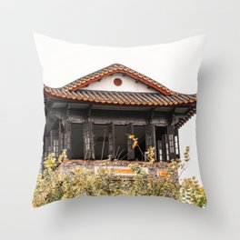 At the old Chinese garden in Shenzhen (China) (2018-11-SHZ26) Throw Pillow