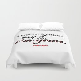 3 words. 8 letters. | gossip girl quote  Duvet Cover