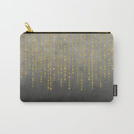 Dark Glamour golden faux glitter Carry-All Pouch