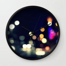 a street full of lighters Wall Clock