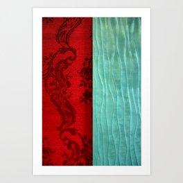 Fabric Ocean Art Print