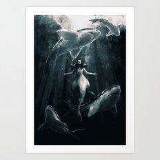 Shark Friends Art Print