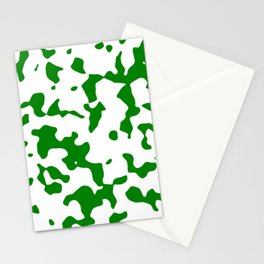 Large Spots - White and Green Stationery Cards