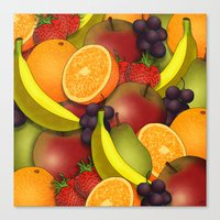 fruit Canvas Prints featuring Fruit by AdamSteve