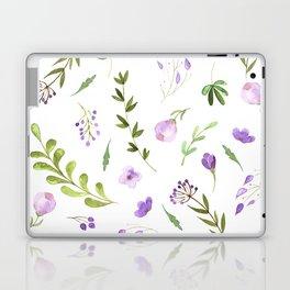 Purple Flower Field Laptop & iPad Skin