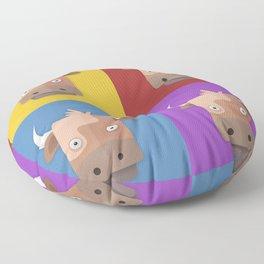 Warhol's Cow Floor Pillow