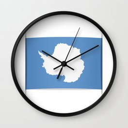 Flag of Antarctica. Vector illustration of a stylized flag. The slit in the paper with shadows. Wall Clock