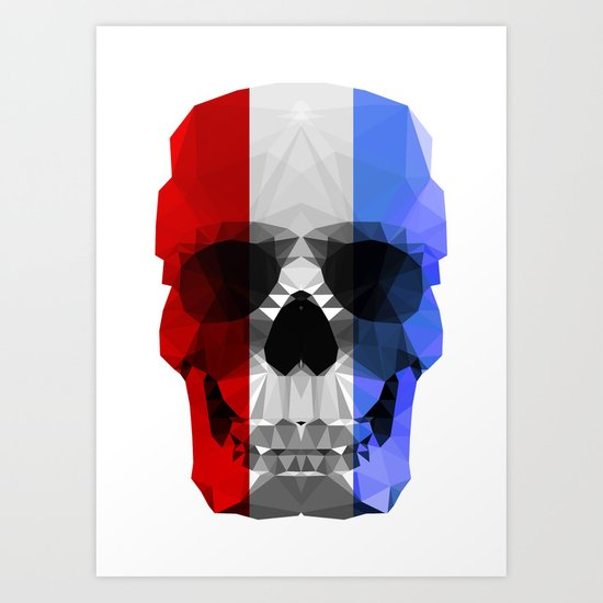 Polygon Heroes - The Patriot Skull Art Print