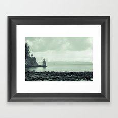 siwash rock Framed Art Print