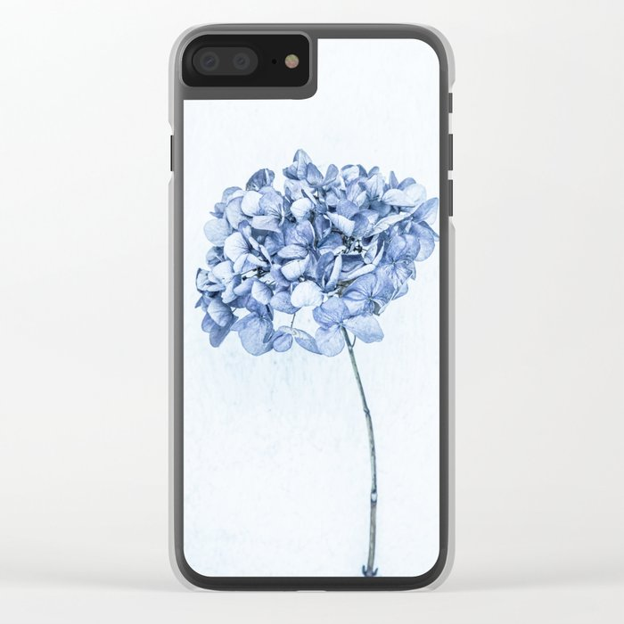 Hydrangea Blue 2 Clear iPhone Case