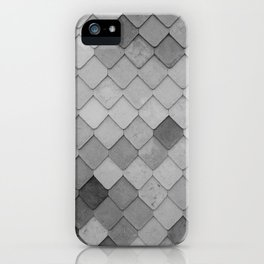 Fifty Gray Shades of Tiles (Black and White) iPhone Case
