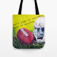 football Tote Bags featuring Football by A Calcines