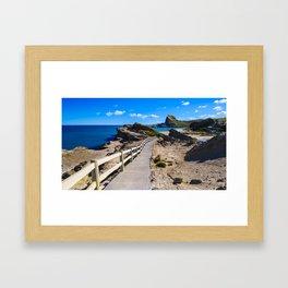 Castlepoint, Wairarapa Framed Art Print