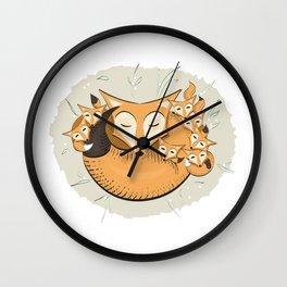 Mom fox Wall Clock