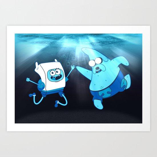 SpongeFinn AdventurePants Art Print