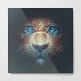 Red Tiger Metal Print