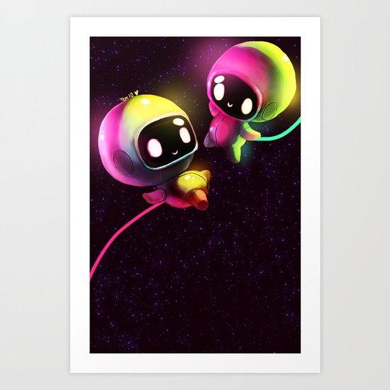 Space Lovers Art Print